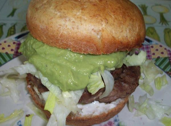 Peggi's Grilled Turkey Guacamole Burgers Recipe