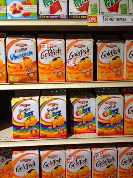 Photo: I have littles who were begging for rainbow goldfish. How could I say no?