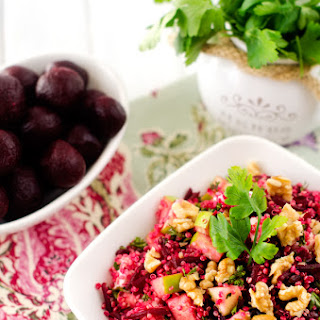 Quinoa Salad with Goat Cheese Beets & Walnuts