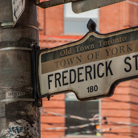 Frederick St by H. Ava-Lyn Smith - Products & Objects Signs ( oil water artt photography, street sign, old town toronto,  )