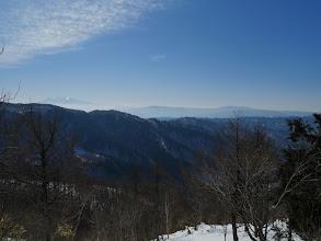 右から川上岳、位山、木曽御嶽山など