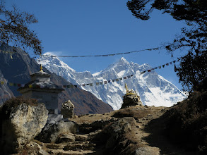 Photo: Everest view before dropping down to Khumjung