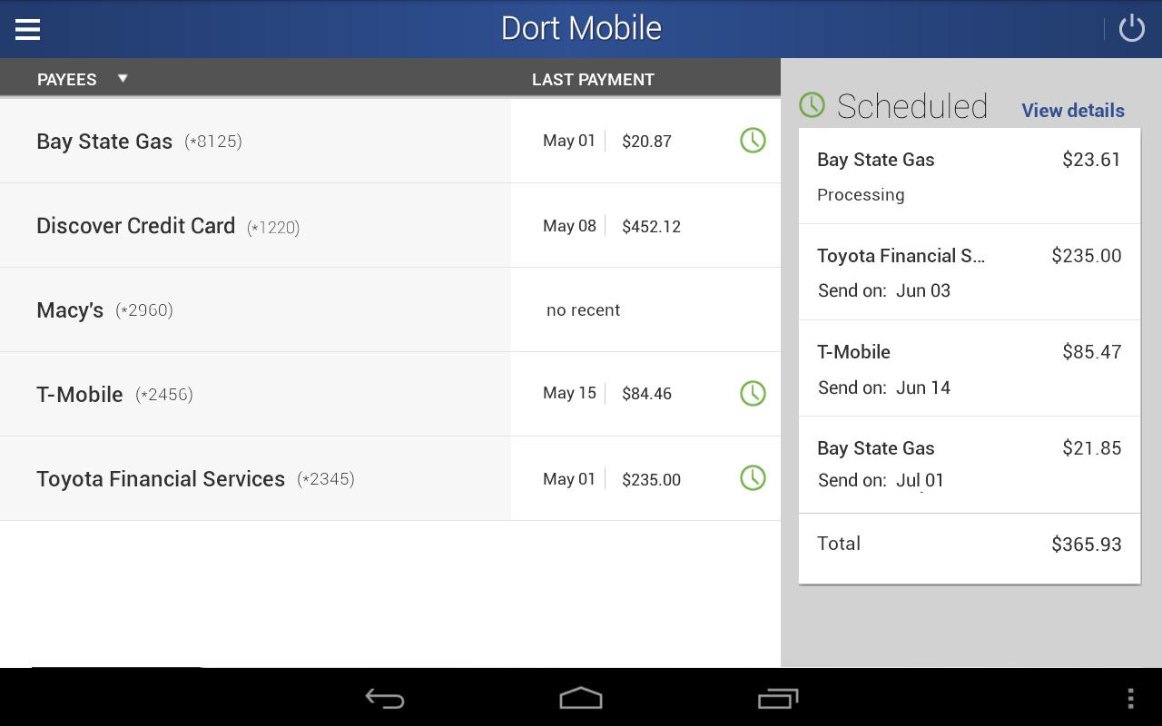 Dort Federal Mobile Banking- screenshot