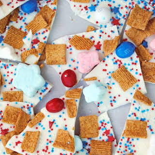 Red, White & Blue S'mores Bark.