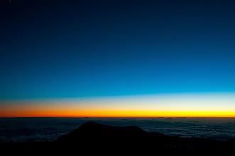Photo: Sun having gone, from the summit of Mauna Kea.