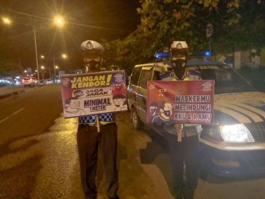 Ops Aman Nusa II Dan Antisipasi Covid19 Polres Rohul Bagikan Ribuan Masker Gratis