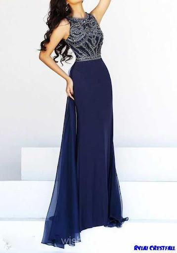 ロングドレスのデザインのアイデア