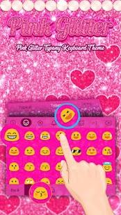 Pink Glitter Theme&Emoji Keyboard - náhled