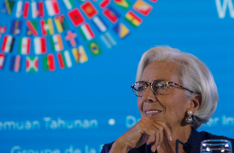 IMF MD Christine Lagarde at a news conference during the IMF World Bank annual meeting 2018 in Nusa Dua, Bali, Indonesia, on October 11 2018. Picture: REUTERS/JOHANNES P CHRISTO