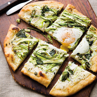 Shaved Asparagus and Herb Pizza with Egg.