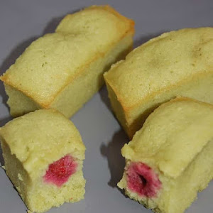 Matcha and Raspberry Financiers