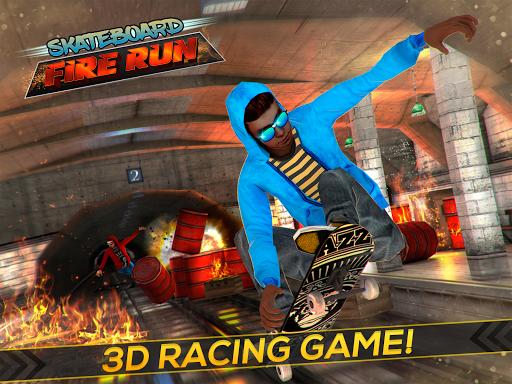 Skateboard Fire Run! 1.3.0 screenshots 4