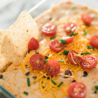 Simple Bean and Cheese Dip.