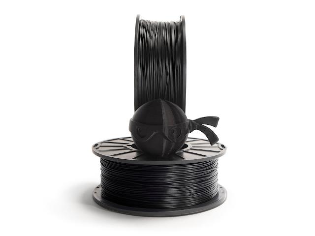 NinjaTek Chinchilla Midnight Black TPE Filament - 2.85mm (1kg)