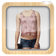 Girls Jeans Top Photo Suit icon