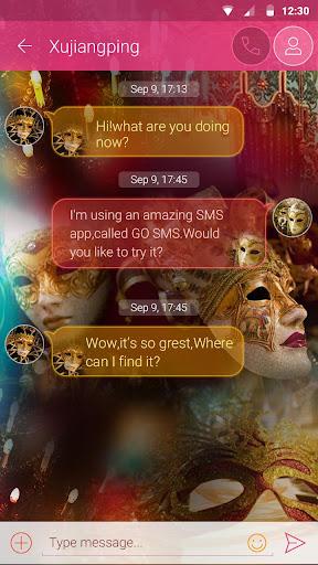 玩免費個人化APP 下載GO SMS PRO MASQUERADE THEME app不用錢 硬是要APP