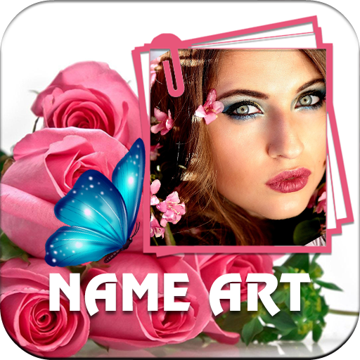 Rose Name Art: Flower Frames for Pictures Icon