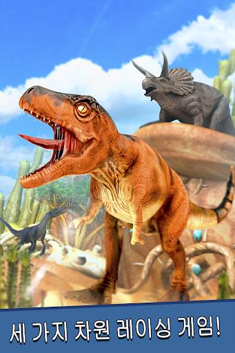 공룡 세계 . 디노 동물 시뮬레이터 쥬라기 달리기