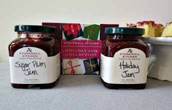 Photo: Giveaway Today - The Holiday Jam Collection which contains one 12.5 oz jar of Holiday Jam and one 12.5 oz jar of Sugar Plum Jam which is all sealed up and packed beautifully.  http://www.peanutbutterandpeppers.com/2012/11/26/sugar-plum-white-chocolate-cake-bites-giveaway/ #giveaway   #jam   #stonewallkitchen