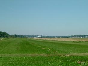 Photo: We landed on the grass runway in Geneva; a jest is just landing on the concrete http://www.swiss-flight.net