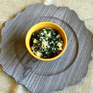 Vegan and Gluten-Free Warm Quinoa Salad.