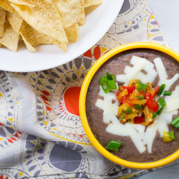 Easy Black Bean Dip {Vegan} Recipe