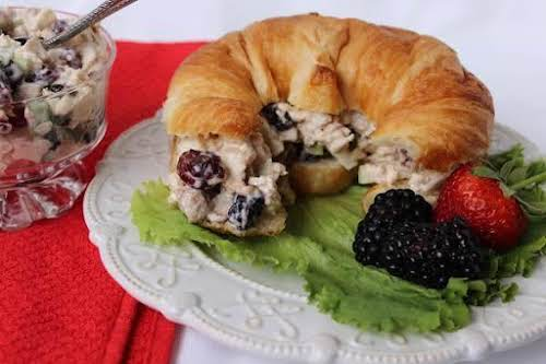 "Red, White and Blue Chicken Salad ""I just made this, wow is..."