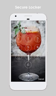 Cocktail Straw Drink Free HD PIN AppLock Security - náhled
