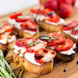 Strawberry Goat Cheese Toasts.