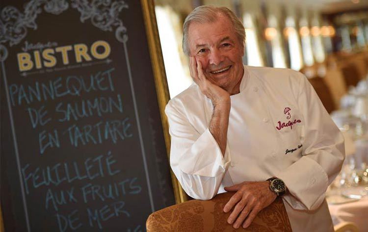 "Master chef Jacques Pepin will host a 10-day ""Regal Routes"" cruise on Oceania's Marina June 2."