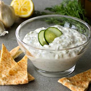 Greek Yogurt Dip & Cucumber Sauce.