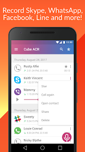 Call Recorder - Cube ACR Screenshot