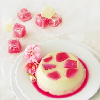 Vanilla Rose Pana Cotta.