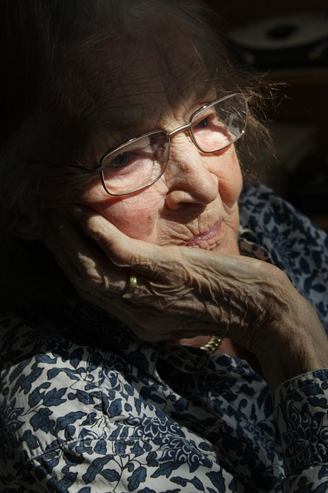 Woman, Old, Age, Retirement Home, Dementia, Alzheimer'S