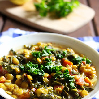 Lemony Lentil Stew with Kale (Vegan) Recipe