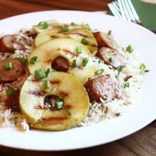 Grilled Chicken Apple Sausage Dinner in 30 minutes