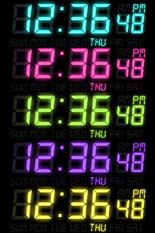 DIGI-CLOCK LiveWallpaper Trial- screenshot
