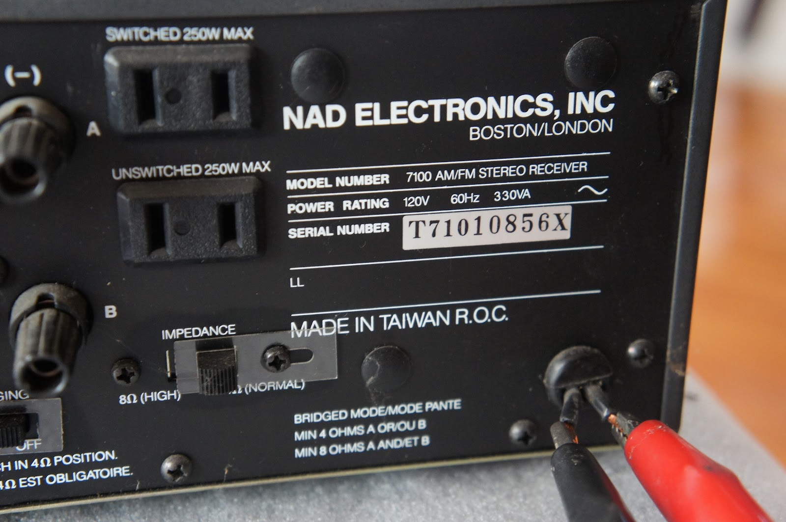 NAD 7100 MONITOR SERIES STEREO RECEIVER ** FOR PARTS OR