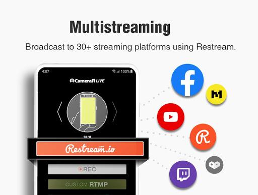 CameraFi Live - YouTube, Facebook, Twitch and Game screenshot 12