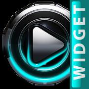 Poweramp widget Turquoise Glow Android APK Free Download – APKTurbo