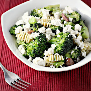 Pasta with Broccoli, Olives and Feta