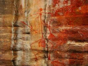 Photo: AUSTRALIE-Ubirr Rock Paintings, les peintures rupestres d'aborigènes