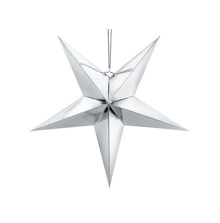 Pappersstjärna silver - 70 cm