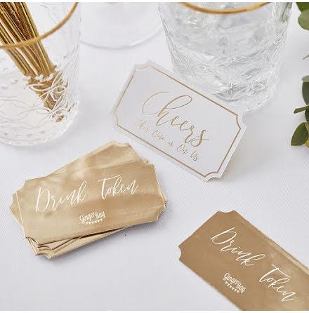Drinkbiljetter - Gold wedding