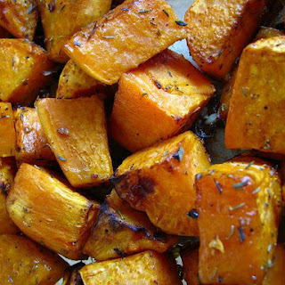 Cinnamon Roasted Sweet Potatoes and Garlic.