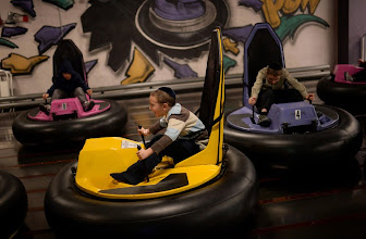 Photo: CENTENNIAL, CO. DECEMBER 25: Moshe Krausz, 6, front, and his friends ride the bumper cars at the the South Suburban Sports Center in Centennial, Colorado December 25, 2013. For the fourteenth year, the Denver Community Kollel Women's Division is offering a Jewish Family Extravaganza of family fun and entertainment. (Photo by Hyoung Chang/The Denver Post)