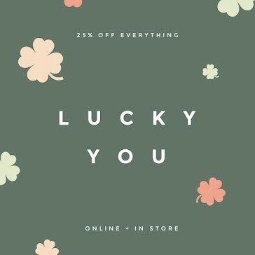 Lucky You Sale - St. Patrick's Day Template