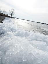 Photo: Ice on the beach of Eastwood Lake in Dayton, Ohio.
