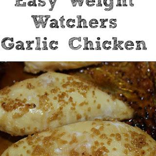 Garlic Chicken With Weight Watcher Break Down.