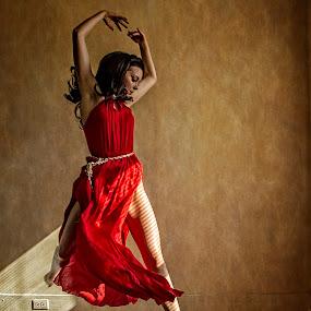 Dancing in the light by James Wayne - People Portraits of Women ( portraiture, studio, portraits of women, modeling, art, dance, dancer, glamor )
